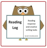 Reading Log - Reading response and creative writing tasks for 3rd to 6th grade