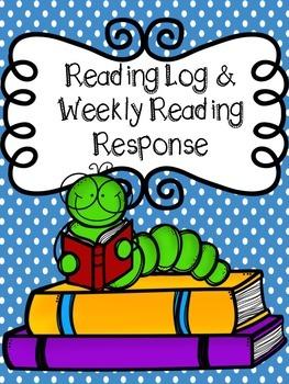 Reading Log and Weekly Reading Response FREEBIE