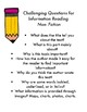Reading Log & Response Choice Board with Questions