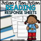 Reading Log Response Sheets for Fiction & Non-Fiction