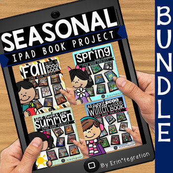 Reading Log Seasonal Book Projects on the iPad BUNDLE