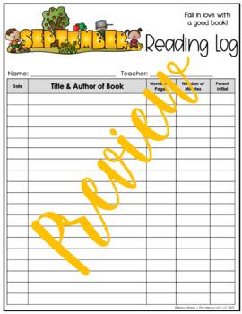 Reading Log {September}