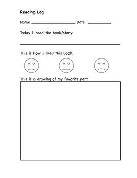 Reading Log Sheets