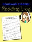 Reading Log & Student Summary Page