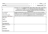 Reading Log Summarization Project: Log, Rubric, Sentences Starters