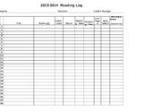 Reading Log & Summary Sheet - Log