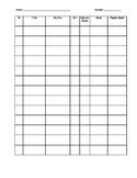 Reading Log Table/Chart