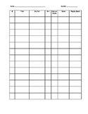 Reading Log Table/Chart