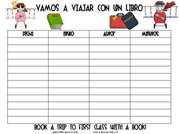 Reading Log-Vamos A Viajar Con Un Libro (Spanish)