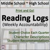 Reading Log - Weekly Accountability