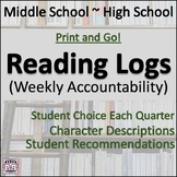 Reading Log - Weekly Accountability