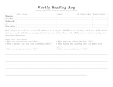 Reading Log-Weekly