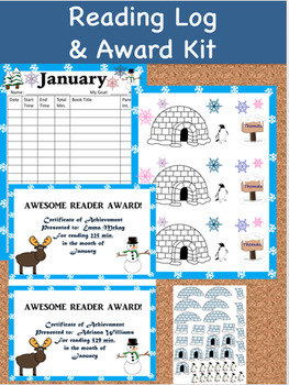 Reading Log and Award Kit January