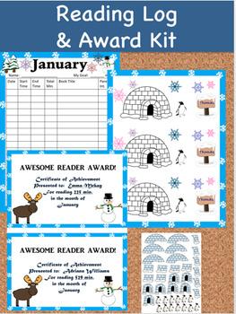 Reading Log and Award Kit January