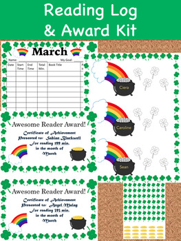 Reading Log and Award Kit March