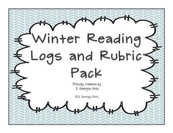 Reading Log and Rubrics Winter Themed