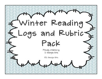 Reading Log and Rubrics Winter Themed