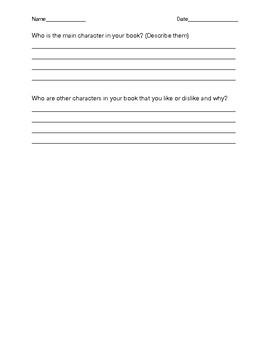 Reading Log and Summary Sheet