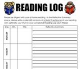 Reading Log and Vivacious Vocabulary