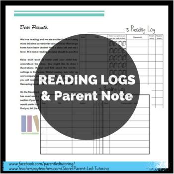 Reading Logs & Parent Notes