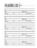 Reading Log (blank)