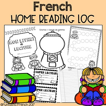 French Daily Reading Log program (at home tracking sheet) by ...