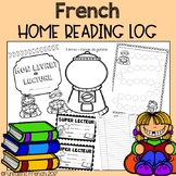 French Daily Home Reading Log