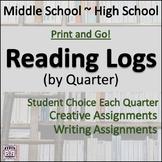 Student Reading Log by Quarter