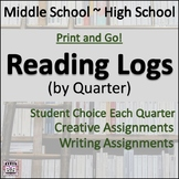 Student Reading Log by Quarter