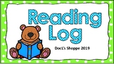 Reading Log (Paw themed) (August 2019- June 2020)