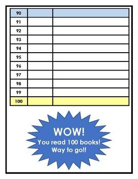 Reading Log for 100 Books