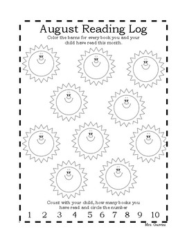 Reading Log for August