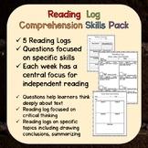 Reading Log for Comprehension Skills