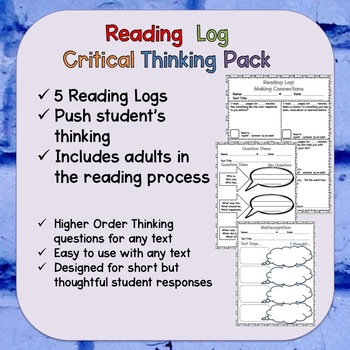 Reading Log for Critical Thinking