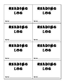 Reading Log for Primary Grade Students (Kindergarten - Gr. 2)