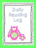 Reading Log for Students Daily Use
