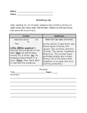 Reading Log for Upper Elementary