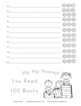 Reading Log for home reading