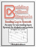 Reading Log in Spanish for Bilingual Students
