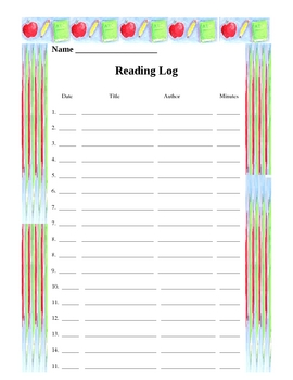Reading Log in Word