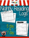 Reading Logs: nicely set up & easy to use even for special education students