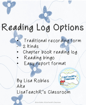 Reading Log options- Serious to Fun!
