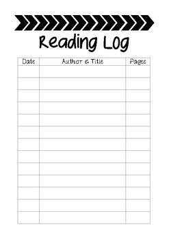 Reading Log- printer friendly
