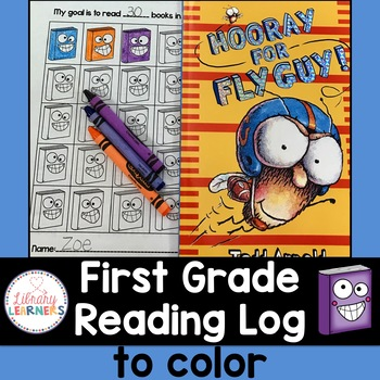 Reading Log to Color for Kindergarten, First Grade or Second Grade