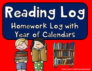 Reading Log with Year of Reading Calendars