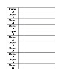 Reading Log with Chapter Summaries