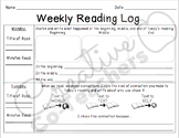 Reading Log with Comprehension Questions