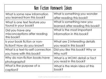Reading Log with Customizable Homework