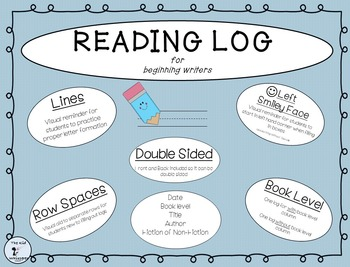 Reading Log with Lines