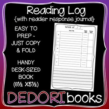 Reading Log with Reader Response Journal